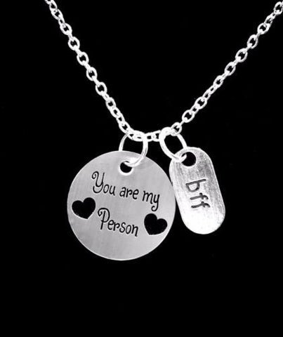 You Are My Person You're My Best Friend BFF Christmas Gift Necklace