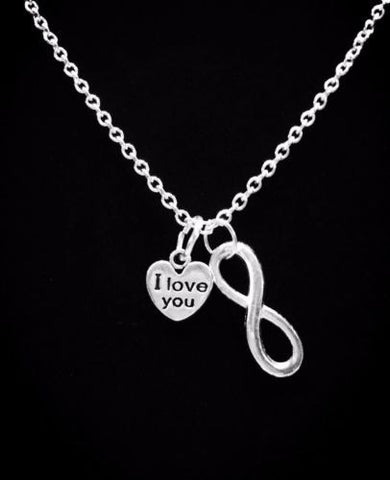 I Love You Infinity Forever Gift Charm Necklace