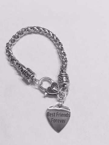 Best Friends Forever Heart Friend Friendship Gift Charm Bracelet