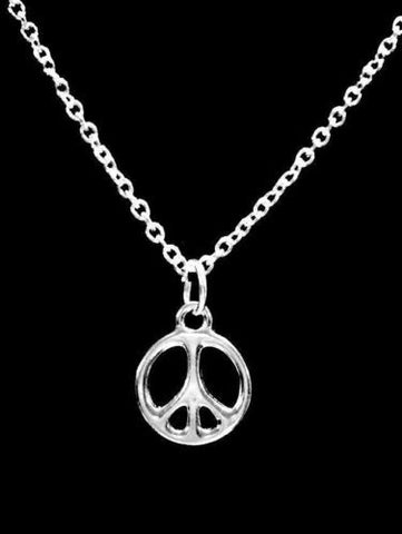 Peace Sign Gift Charm Necklace