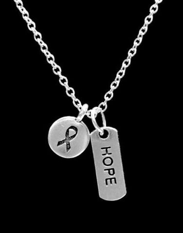 Cancer Awareness Ribbon Hope Inspirational Gift Survivor Charm Necklace