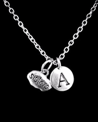 Choose Initial Sisters Tag Sister Mother's Day Gift Charm Necklace
