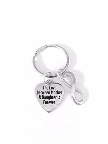 The Love Between Mother And Daughter Is Forever Mother's Day Gift Keychain
