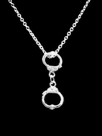 Handcuff Best Friends Partners In Crime Friend Sister Gift Charm Necklace