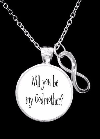 Will You Be My Godmother Infinity Gift Necklace