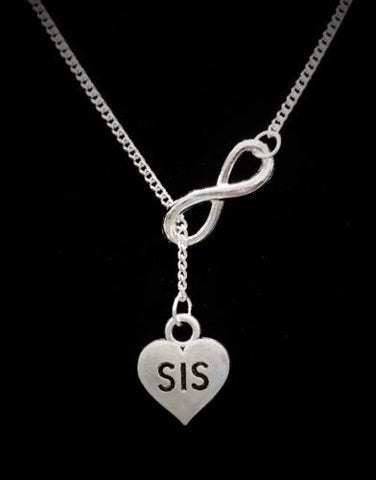 Infinity Sis Sister Gift Forever Love Y Lariat Style Necklace