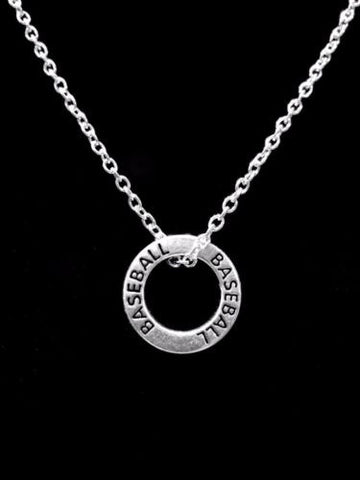 Baseball Affirmation Ring Sports Gift Forever Charm Necklace