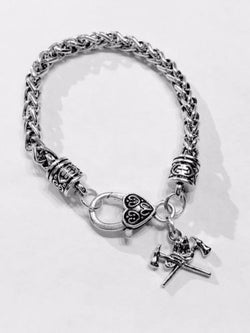 Firefighter Axe Gift Fireman Wife Daughter Mom Fire Dept Charm Bracelet