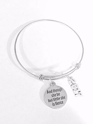 Adjustable Bangle Charm Bracelet 2017 Graduation Gift Though She Be But Little
