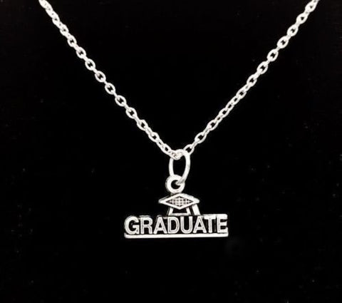 Graduate Graduation Gift Cap And Gown Necklace