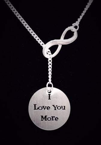 Infinity I Love You More Gift Wife Girlfriend Mother's Day Lariat Necklace