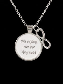 Infinity You Are Everything, Wedding, Couples, HisAnd Hers Quote Necklace