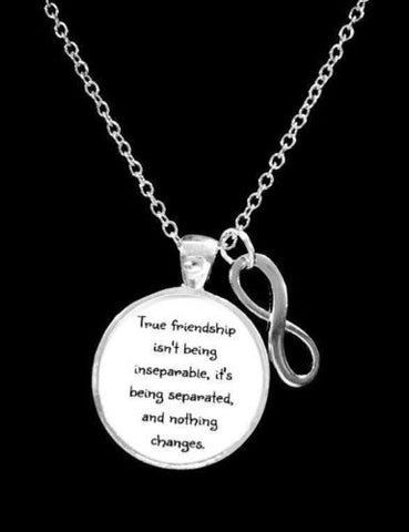 Best Friends True Friendship Long Distance Friend Sisters Infinity Gift Necklace