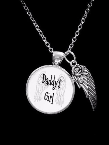 Daddy's Girl Angel Wing Valentine Gift Daughter For Her Necklace