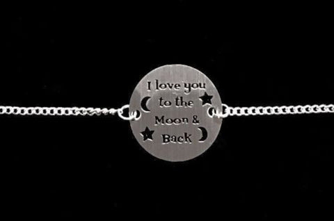 I Love You To The Moon And Back Mother Wife Sister Christmas Gift Charm Bracelet