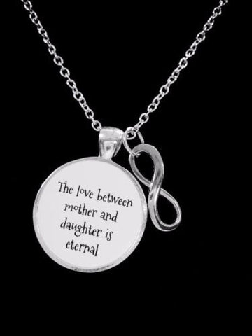 The Love Between Mother And Daughter Is Eternal Infinity Christmas Gift Necklace