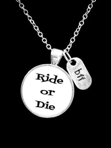 Best Friend Ride Or Die Bff Friendship Partners In Crime Gift Necklace