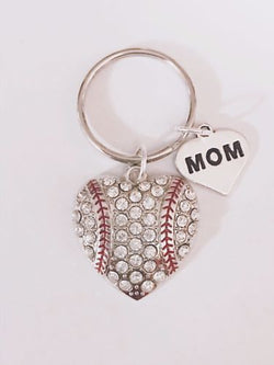 Baseball Heart Softball Sports Mom Mother's Day Gift For Her Keychain