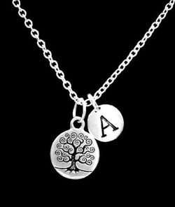 Choose Initial Tree Knowledge Meditation Life Wisdom Gift Necklace