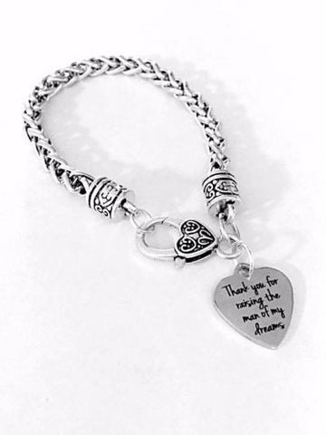 Mother Of The Groom Thank You For Raising Wedding Party Gift Charm Bracelet