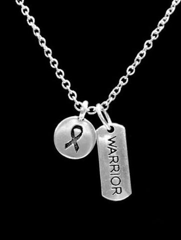 Cancer Awareness Ribbon Warrior Inspirational Gift Survivor Charm Necklace