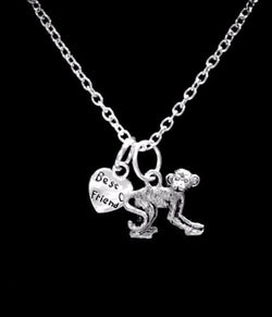 Monkey Animal Best Friends Nature Mother's Day Best Friend Gift Necklace