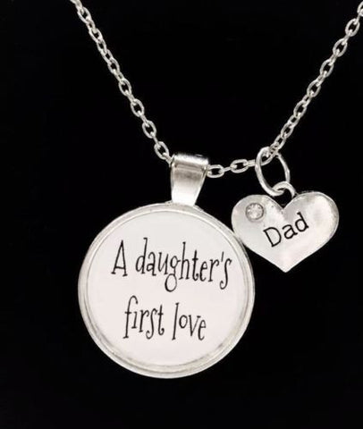 A Daughter's First Love Dad Gift For Father's Day Wedding Quote Necklace