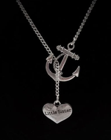 My Little Sister Lil Sis My Anchor Of Hope Necklace