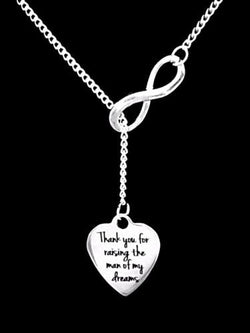 Wedding Gift Mother Of The Groom Thank You For Raising The Man Lariat Necklace