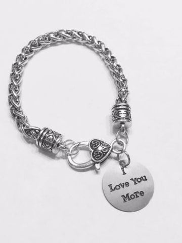 I Love You More Mother's Day Gift Wife Girlfriend Mom Charm Bracelet