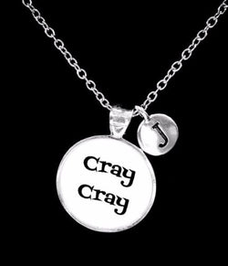 Choose Initial, Cray Cray Best Friend Sister Friendship Gift Necklace