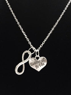 Infinity Sister Of The Bride Gift Bridal Wedding Party Necklace