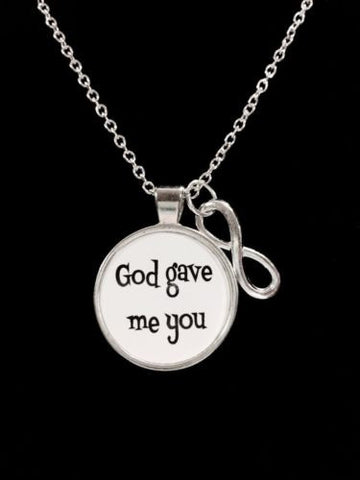 Infinity God Gave Me You, Couples, Gift For Best Friend, Sister, Mother Necklace