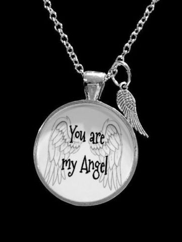 You Are My Angel Guardian Angel Wing Gift Wife Mother Necklace