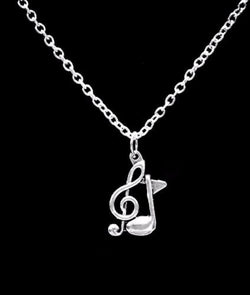 Treble Clef Eight Note Music Marching Band Musical Note Charm Necklace