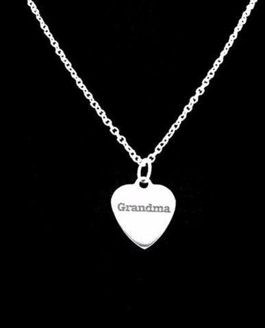 Grandma Heart Gift Grandmother Charm Necklace
