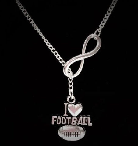 Infinity I Love Football Allstar Sports Y Lariat Style Necklace