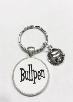 Baseball Softball Bullpen, Sports Keychain