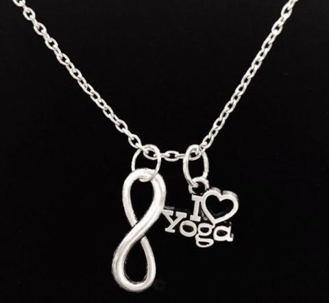 Infinity I Love Yoga Gift Necklace