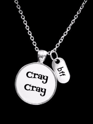BFF Cray Cray Best Friend Friends Sister Christmas Gift Necklace