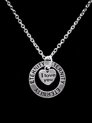 I Love You Eternity Forever Affirmation Charm Necklace