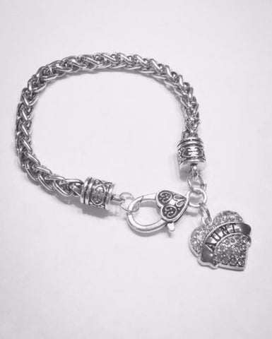 "Crystal Aunt Heart Valentine Gift Mother""s Day Charm Bracelet"