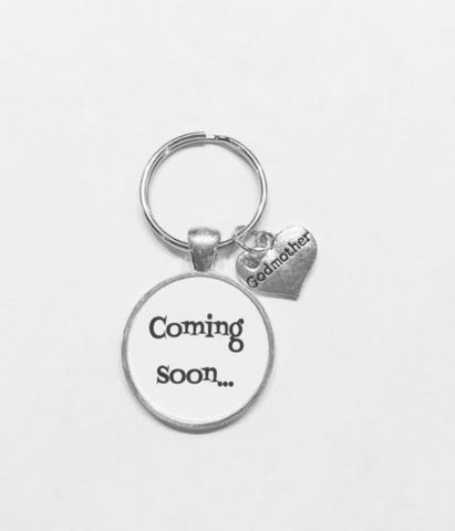 Coming Soon Godmother Gift For Will You Be My Godmother Baby Shower Keychain