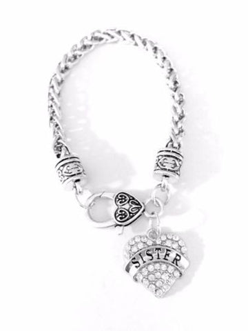 Crystal Sister Mother's Day Gift For Sisters Charm Bracelet