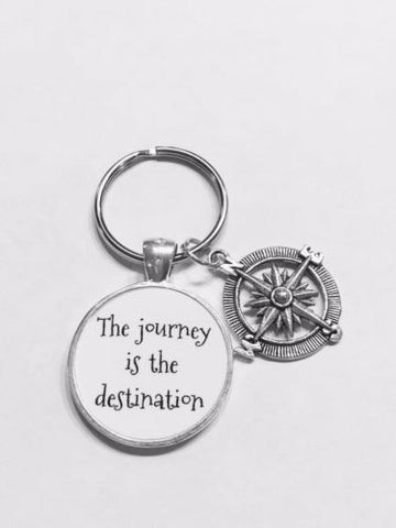 Compass The Journey Is The Distination Best Friend Sister Graduation Keychain