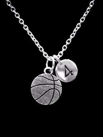 Choose Number, Basketball Sports Gift Charm Necklace