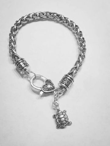 Gift For Her, Turtle Gift Animal Nature Charm Bracelet