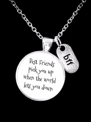 Best Friends Pick You Up When The World Lets You Down Christmas Gift Necklace
