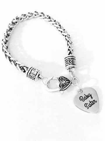Baby Sister Gift For Little Sister Charm Bracelet