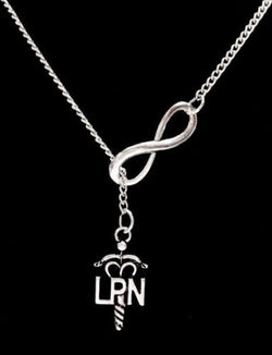 Infinity LPN Licensed Practical Nurse Graduation Gift Lariat Necklace